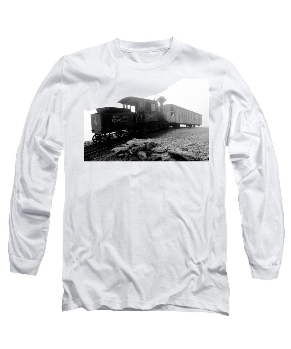 Train Long Sleeve T-Shirt featuring the photograph Old Locomotive by Sebastian Musial