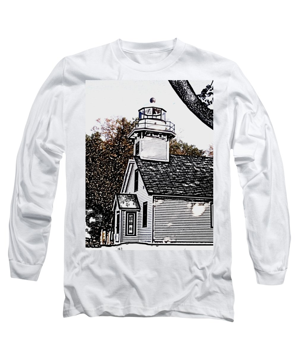 Altered Long Sleeve T-Shirt featuring the photograph Old Mission Point by Wayne Potrafka