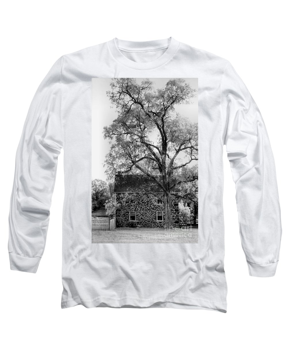 Homes Long Sleeve T-Shirt featuring the photograph Old Stone House by Richard Rizzo