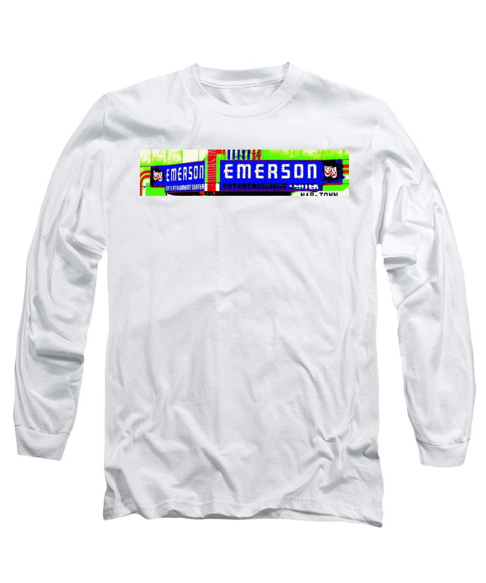 Music Long Sleeve T-Shirt featuring the photograph Old Theater by Ed Smith