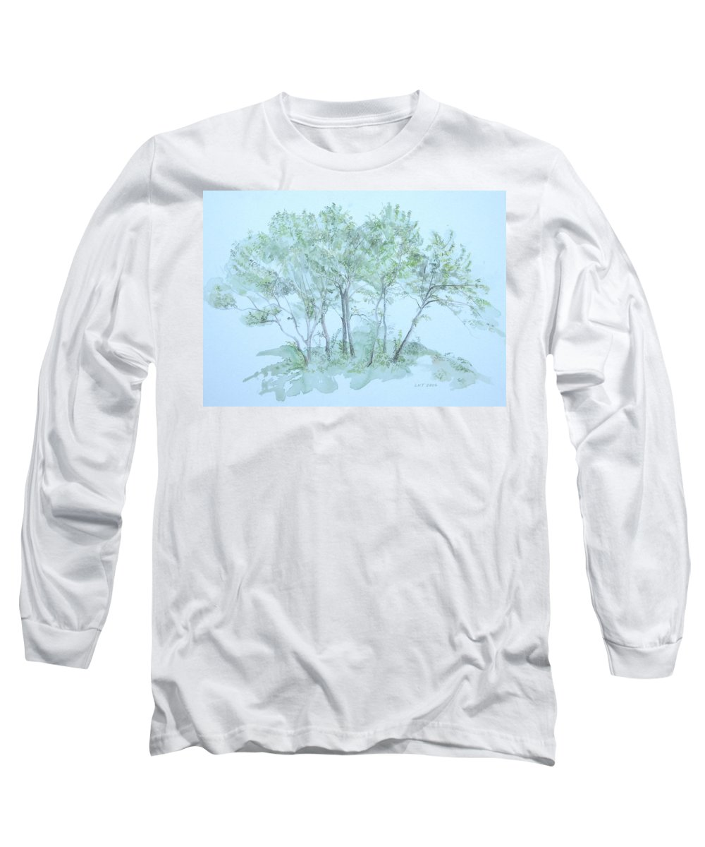 Trees Long Sleeve T-Shirt featuring the painting Outer Banks by Leah Tomaino