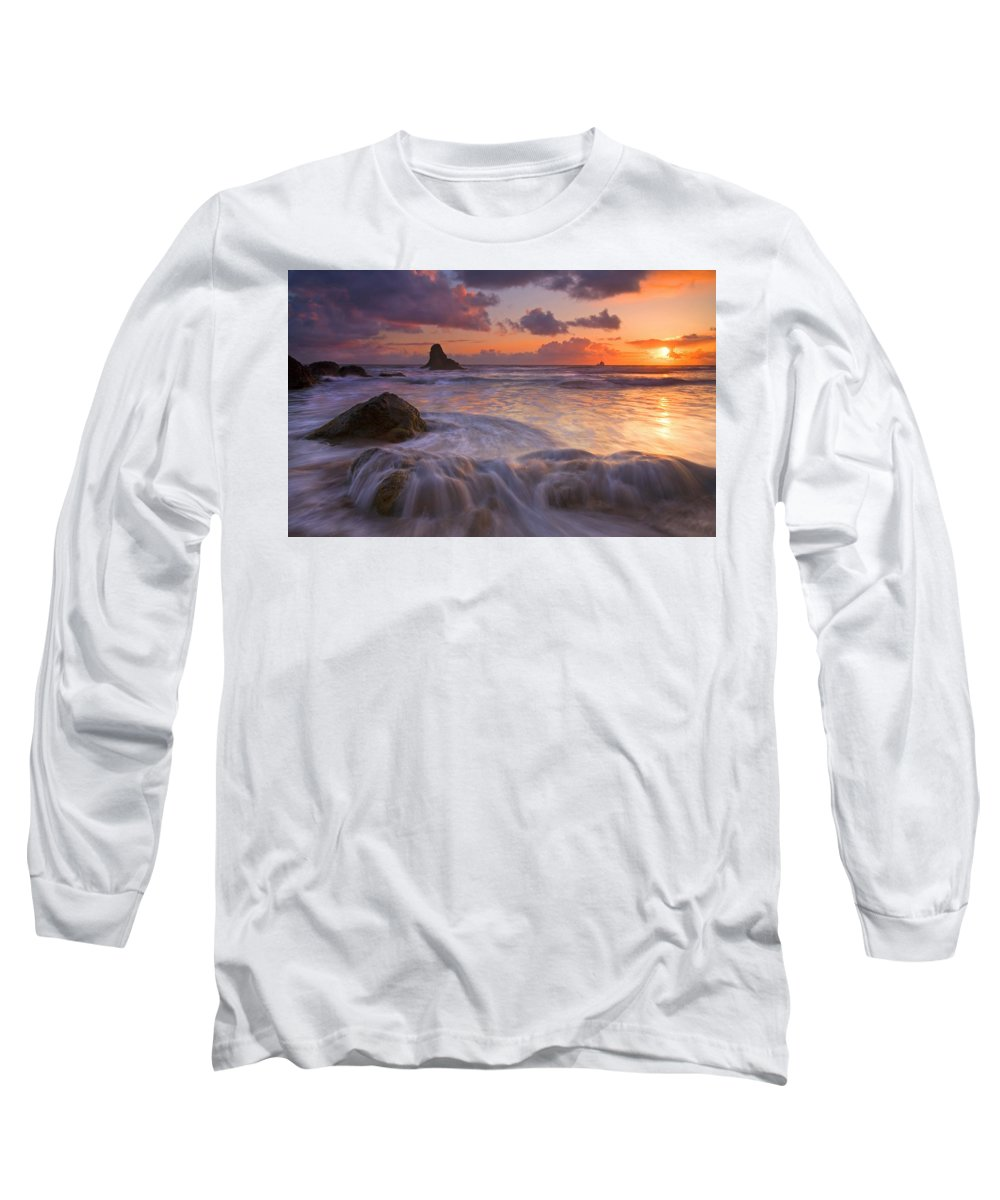 Sunset Long Sleeve T-Shirt featuring the photograph Overcome by Mike Dawson