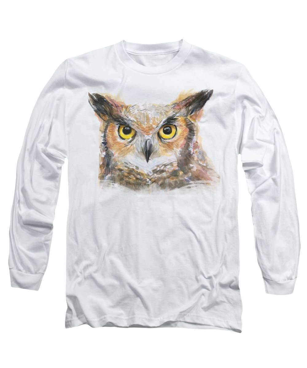 Great Horned Owl Long Sleeve T-Shirts