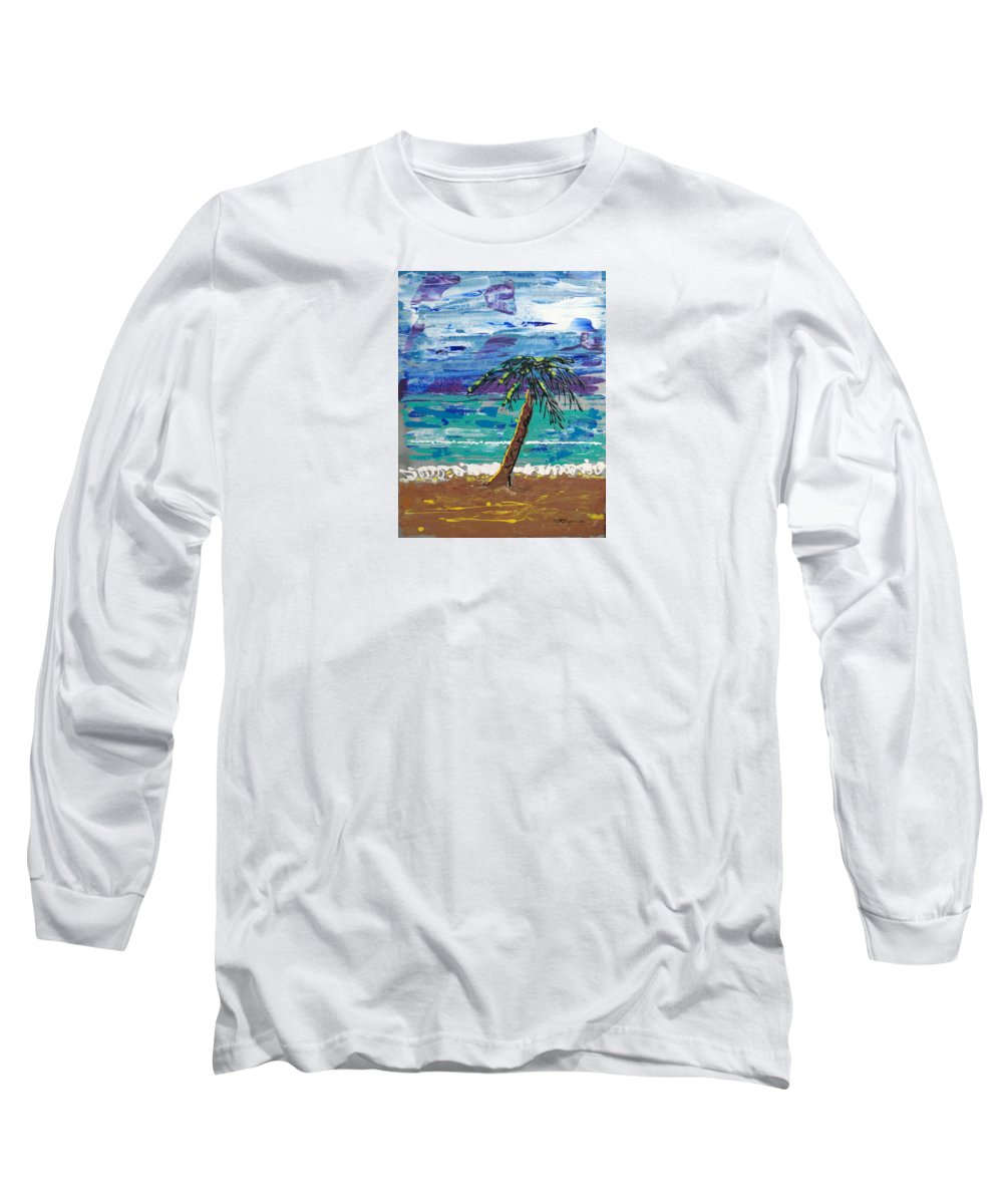 Impressionist Painting Long Sleeve T-Shirt featuring the painting Palm Beach by J R Seymour