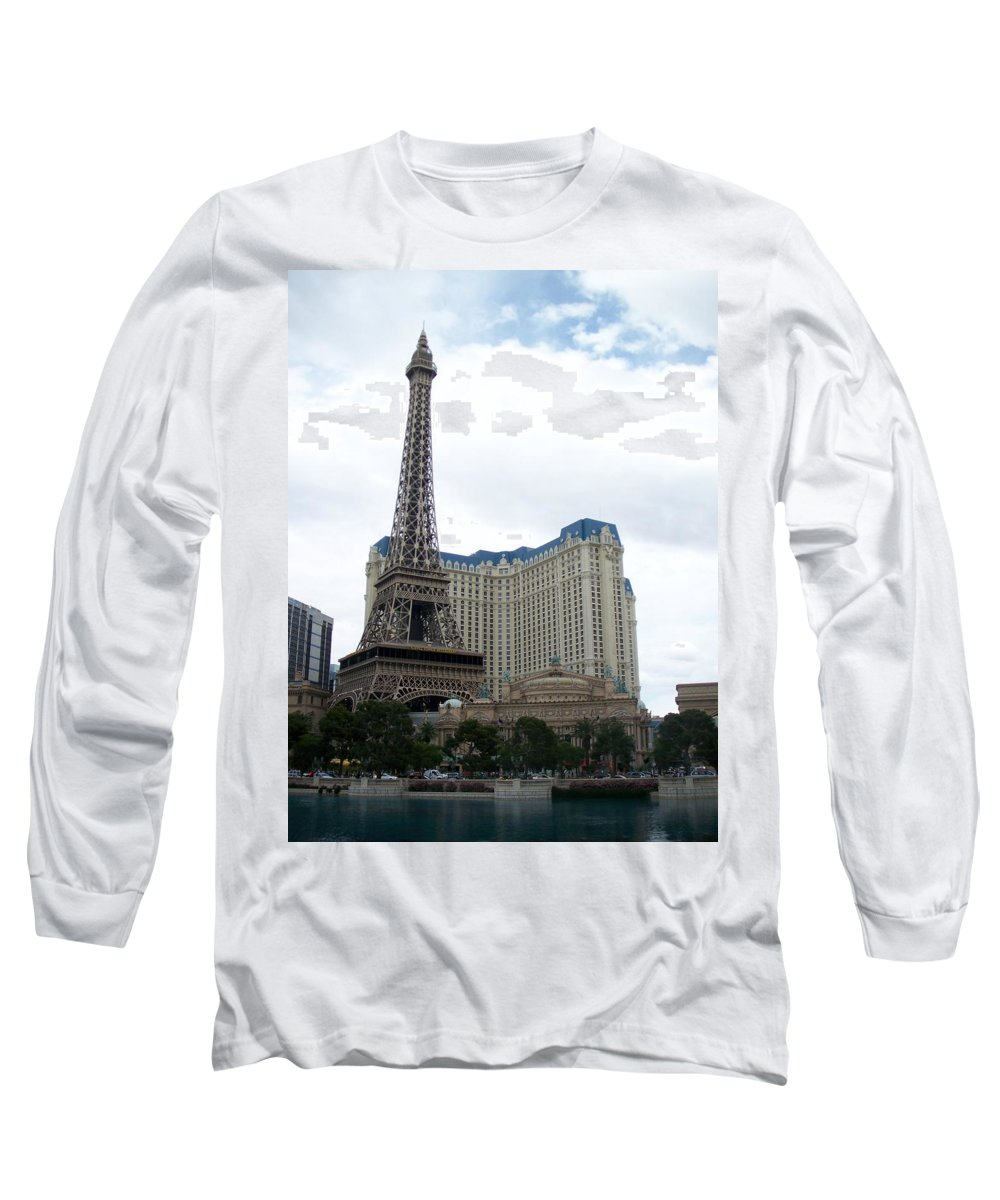 Bellagio Long Sleeve T-Shirt featuring the photograph Paris Hotel by Anita Burgermeister