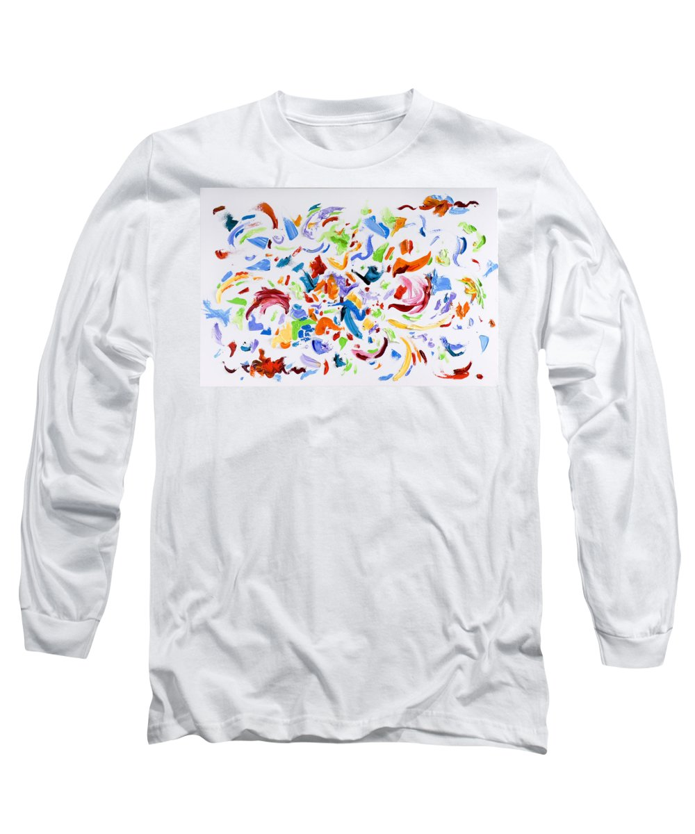 Red Long Sleeve T-Shirt featuring the painting Party by Shannon Grissom