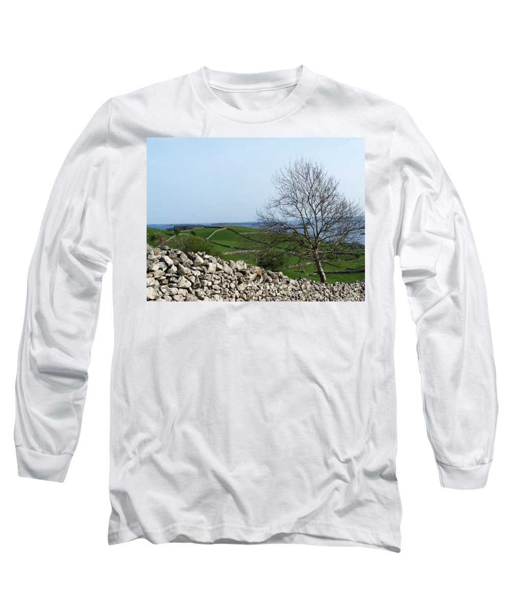 Irish Long Sleeve T-Shirt featuring the photograph Patchwork Quilt Lough Corrib Maam Ireland by Teresa Mucha