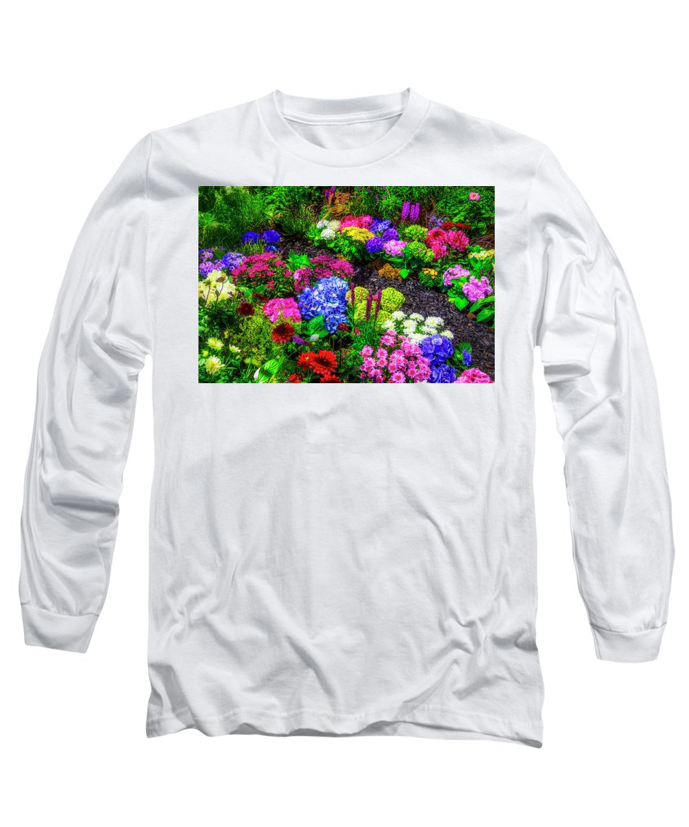 Flower Long Sleeve T-Shirt featuring the photograph Path Through Beautiful Garden by Garry Gay