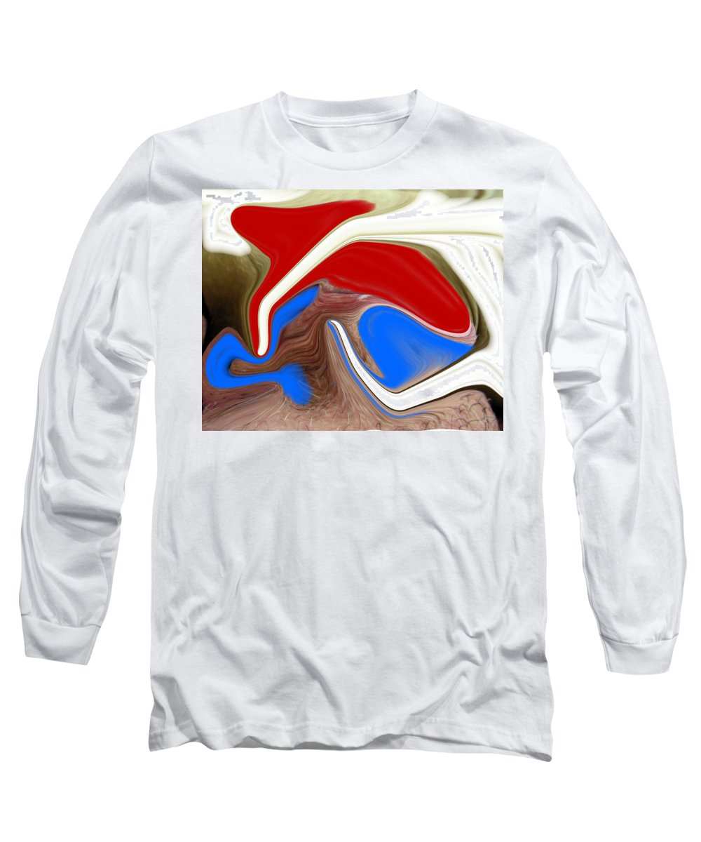 Abstract Long Sleeve T-Shirt featuring the photograph Patriot by Allan Hughes