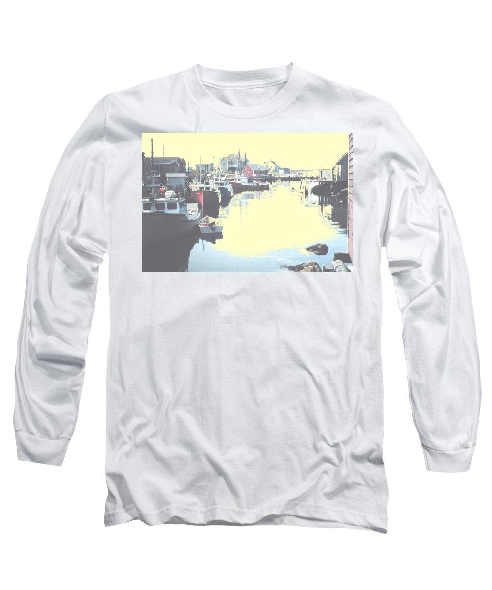 Nova Scotia Long Sleeve T-Shirt featuring the photograph Peggy by Ian MacDonald