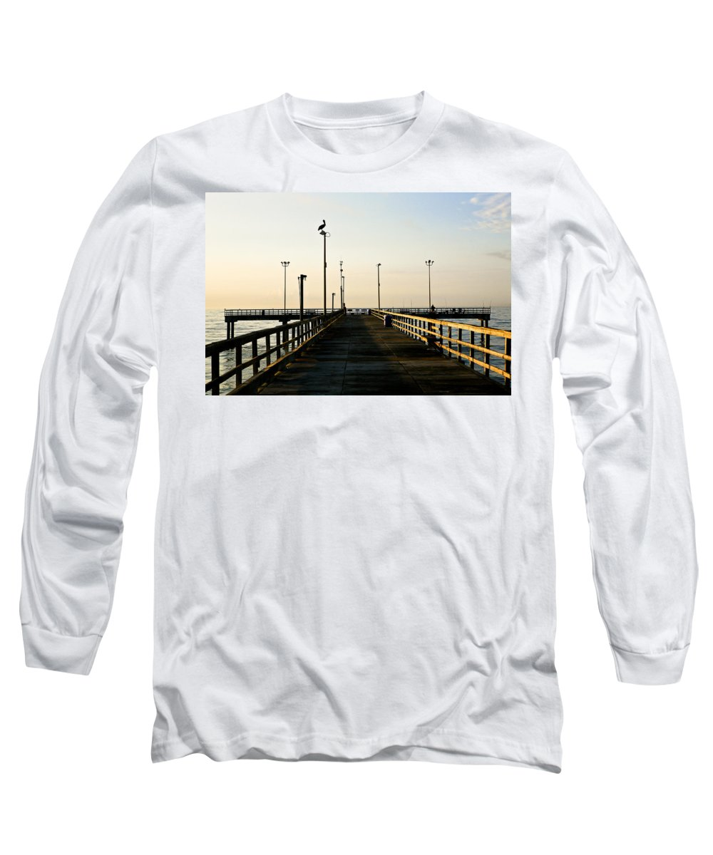 Pelican Long Sleeve T-Shirt featuring the photograph Pelican Morning by Marilyn Hunt