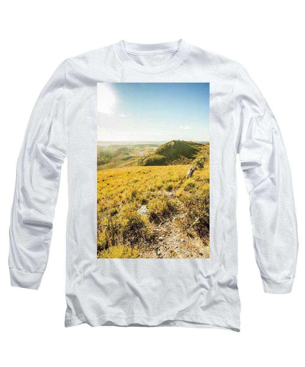 Grassland Long Sleeve T-Shirt featuring the photograph Picture Perfect Pastures by Jorgo Photography - Wall Art Gallery