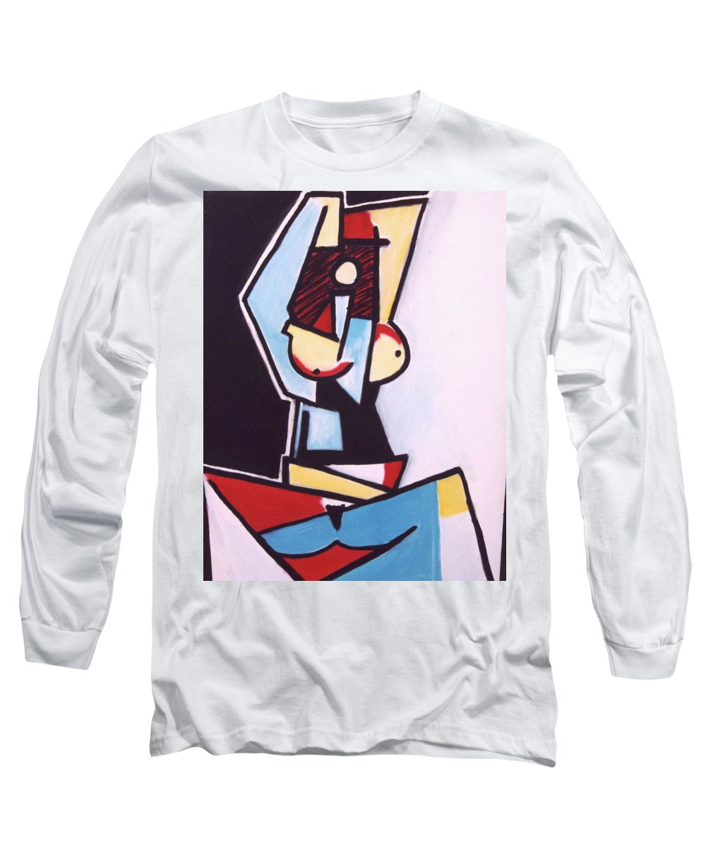 Picasso Long Sleeve T-Shirt featuring the painting Picasso by Thomas Valentine