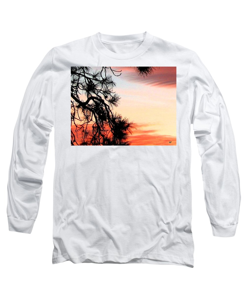 Sunset Long Sleeve T-Shirt featuring the photograph Pine Tree Silhouette by Will Borden
