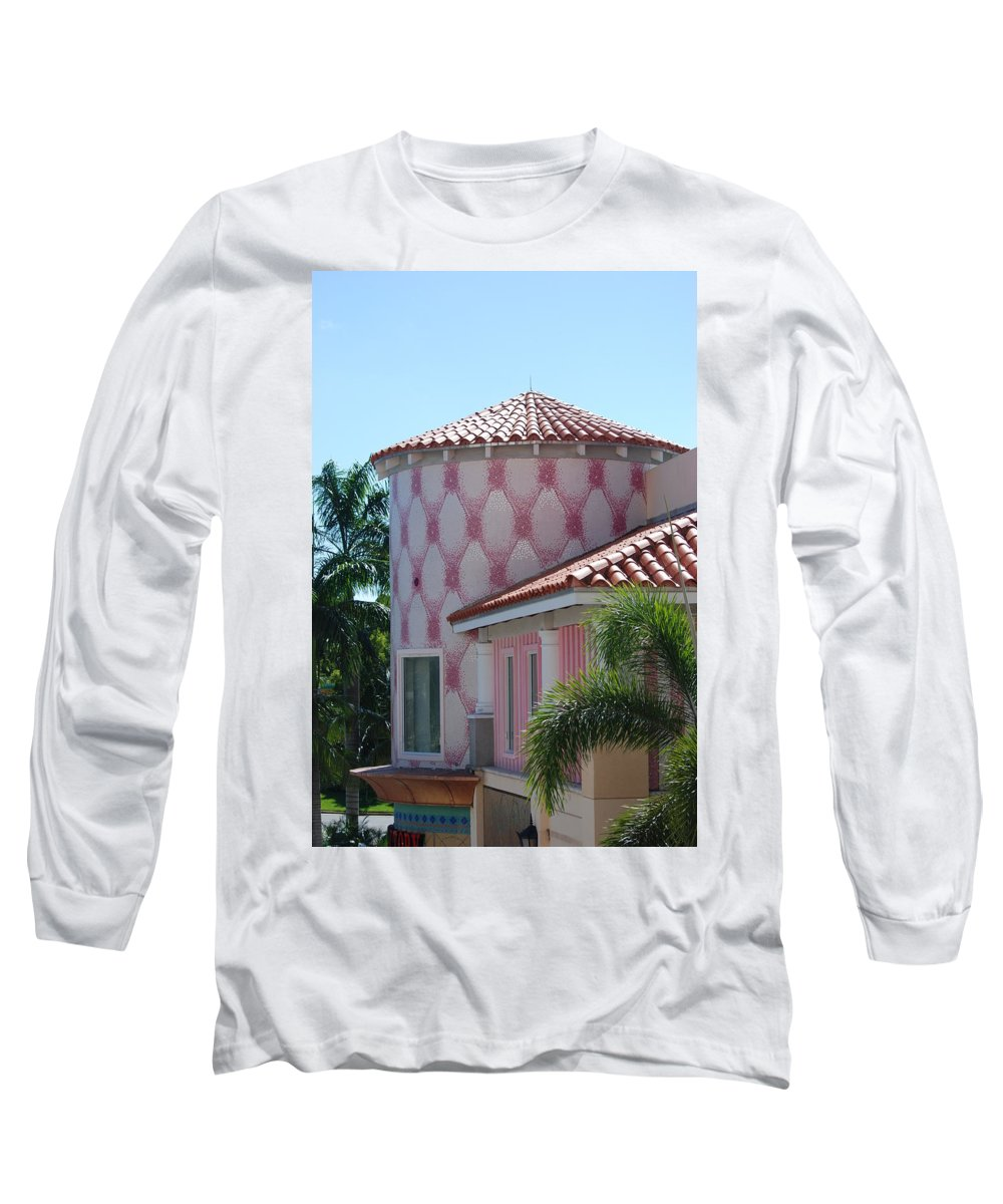 Architecture Long Sleeve T-Shirt featuring the photograph Pink Tower by Rob Hans