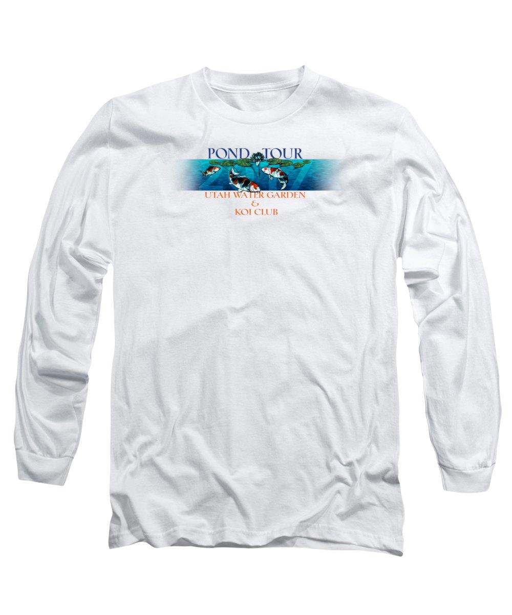Utah Long Sleeve T-Shirt featuring the digital art Pond Tour by Rob Corsetti