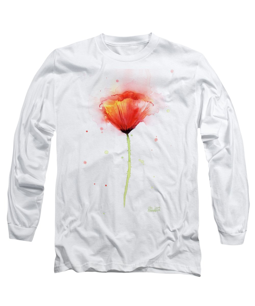 Poppies Paintings Long Sleeve T-Shirts