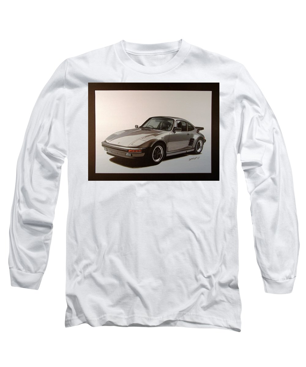 Car Long Sleeve T-Shirt featuring the painting Porsche by Shawn Stallings