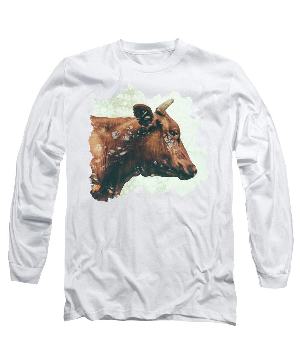 Farm Animals Digital Art Long Sleeve T-Shirts