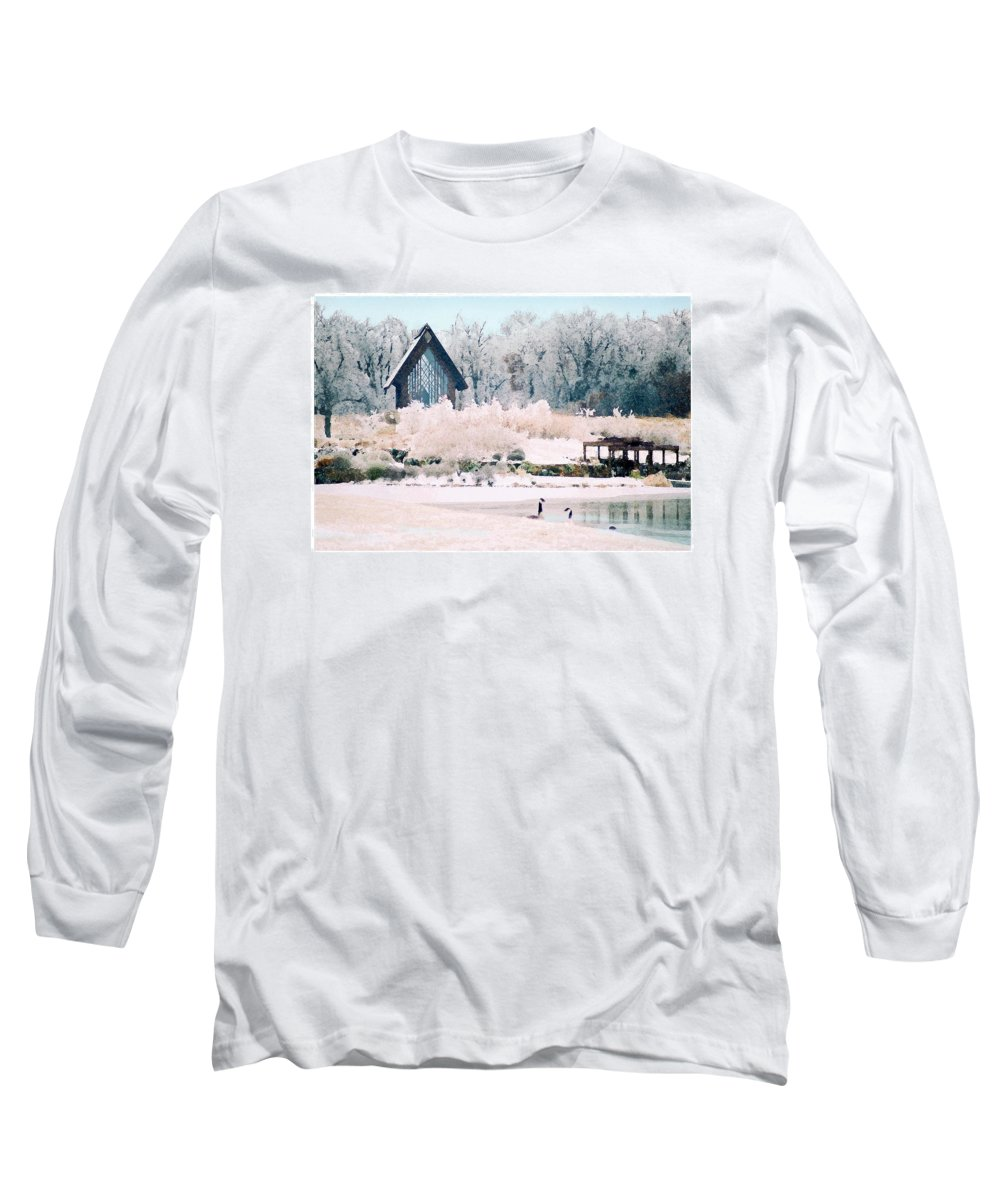 Landscape Long Sleeve T-Shirt featuring the photograph Powell Gardens Chapel by Steve Karol