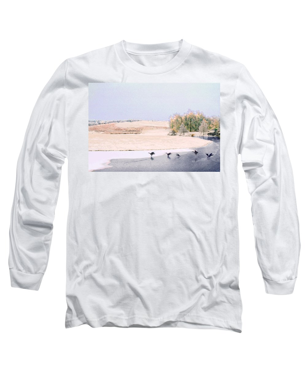Landscape Long Sleeve T-Shirt featuring the photograph Powell Gardens In Winter by Steve Karol