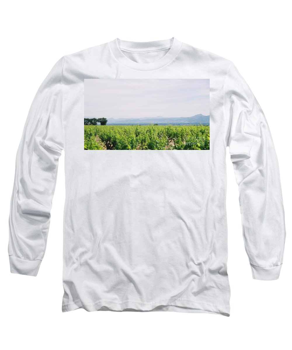 France Long Sleeve T-Shirt featuring the photograph Provence Spring Vineyard by Nadine Rippelmeyer