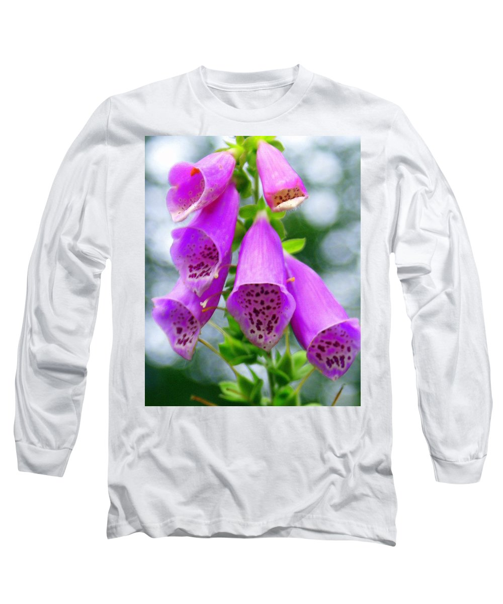 Flowers Long Sleeve T-Shirt featuring the photograph Purple Bells by Marty Koch