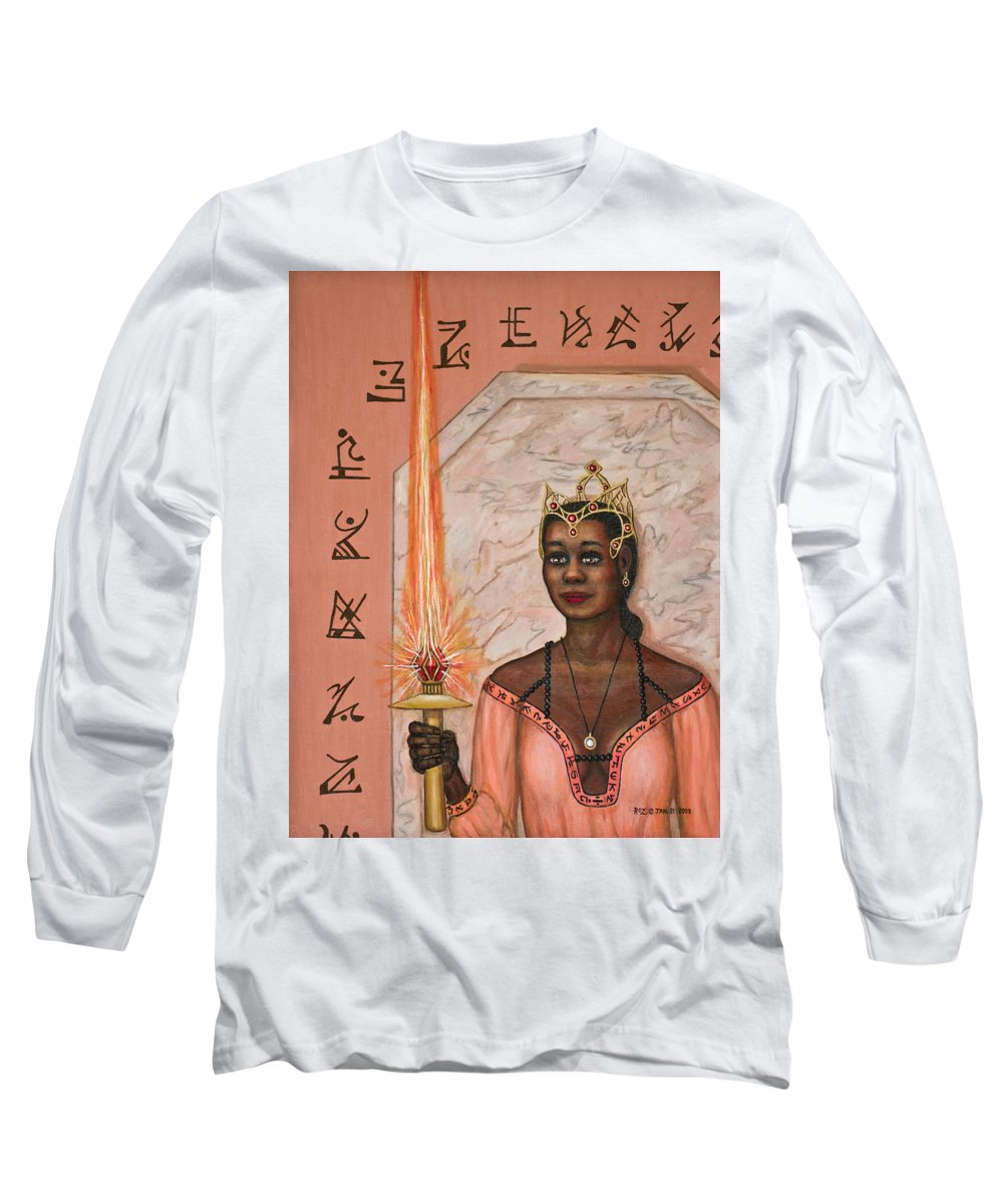 Fantasy Long Sleeve T-Shirt featuring the painting Queens New Toy by Roz Eve