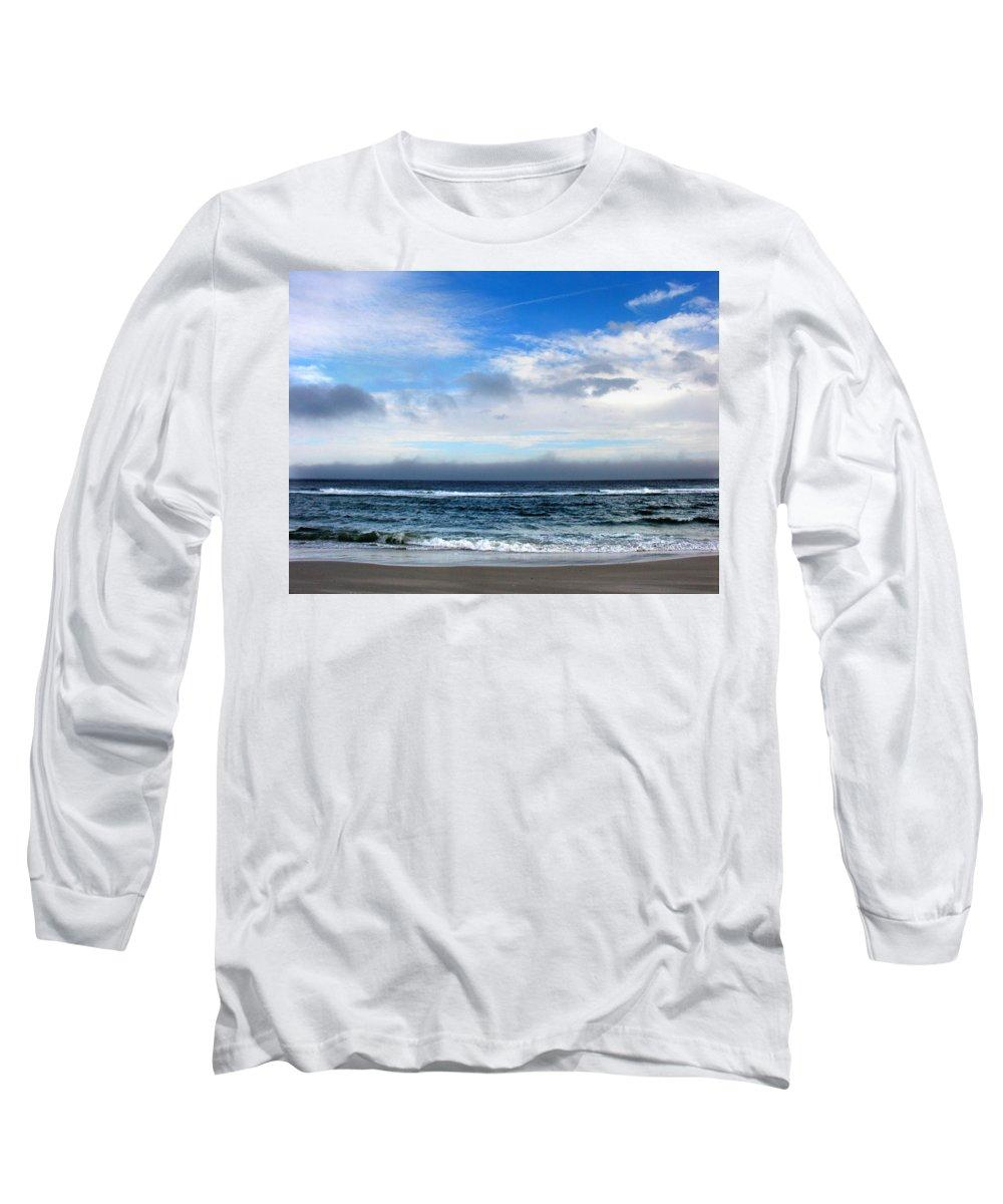 Seascape Long Sleeve T-Shirt featuring the photograph Receding Fog Seascape by Steve Karol