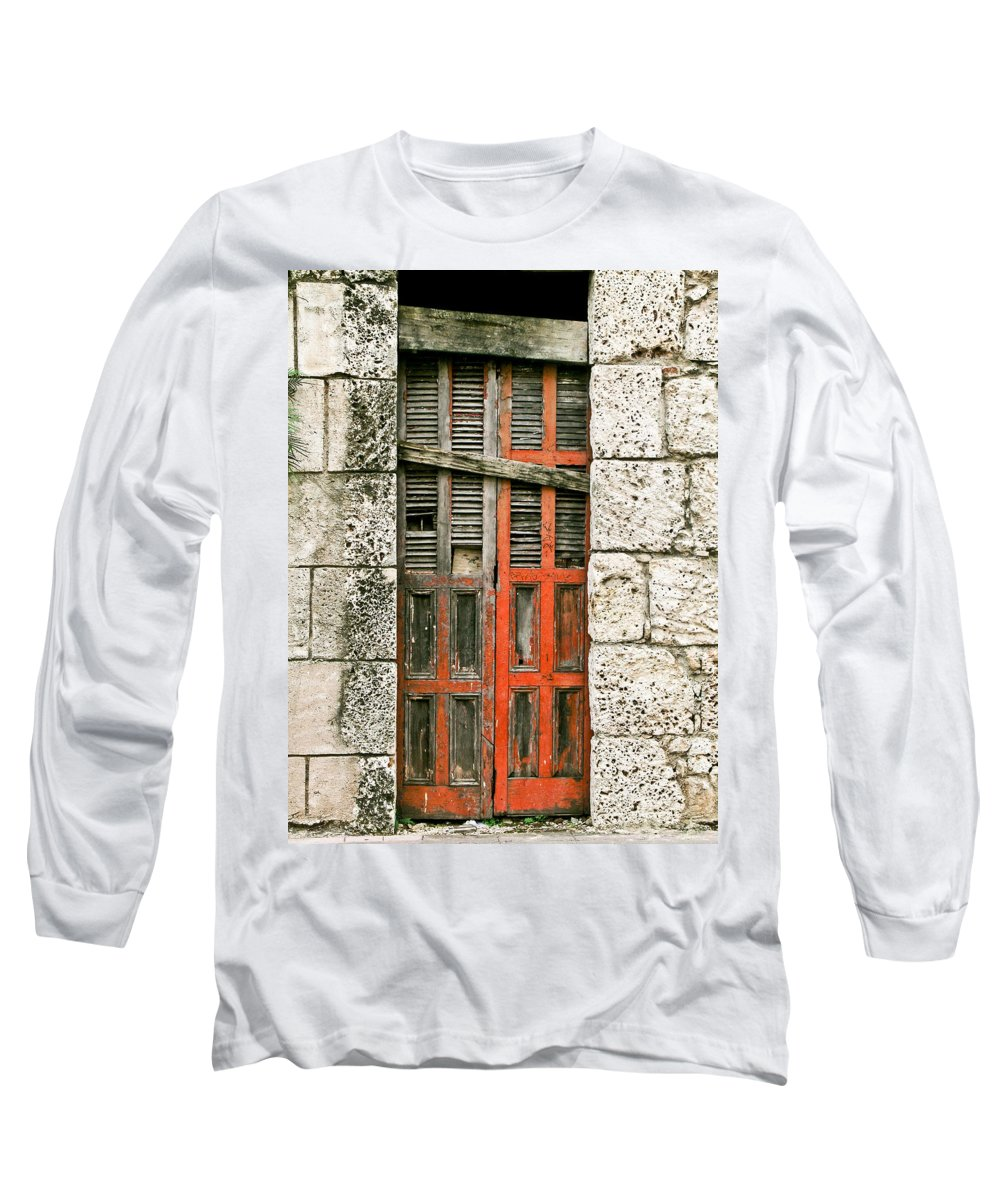 Door Long Sleeve T-Shirt featuring the photograph Red Door by Douglas Barnett