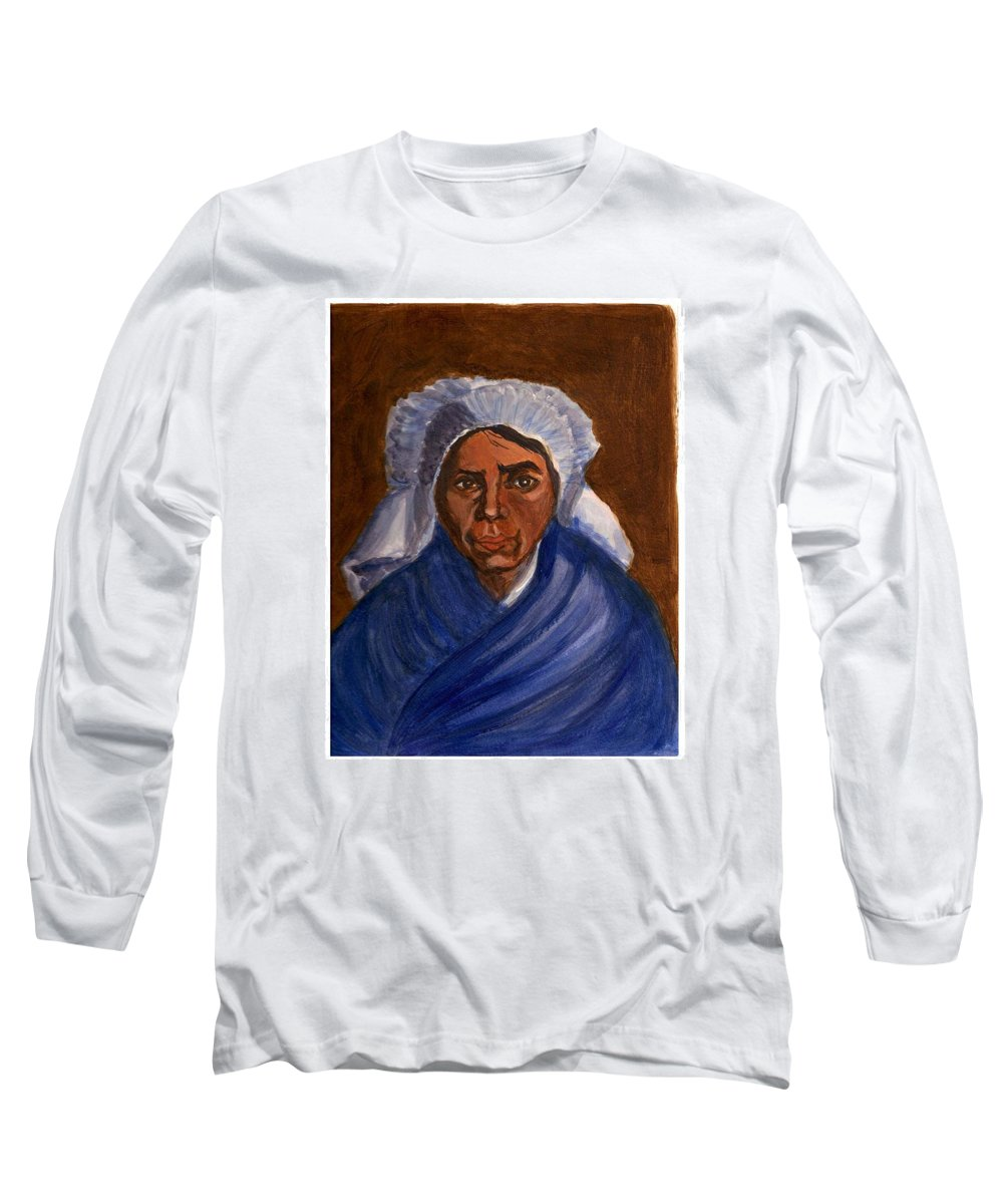 Peasant Woman By Van Gogh Reproduced Long Sleeve T-Shirt featuring the painting Reproduction Of Van Gogh by Asha Sudhaker Shenoy