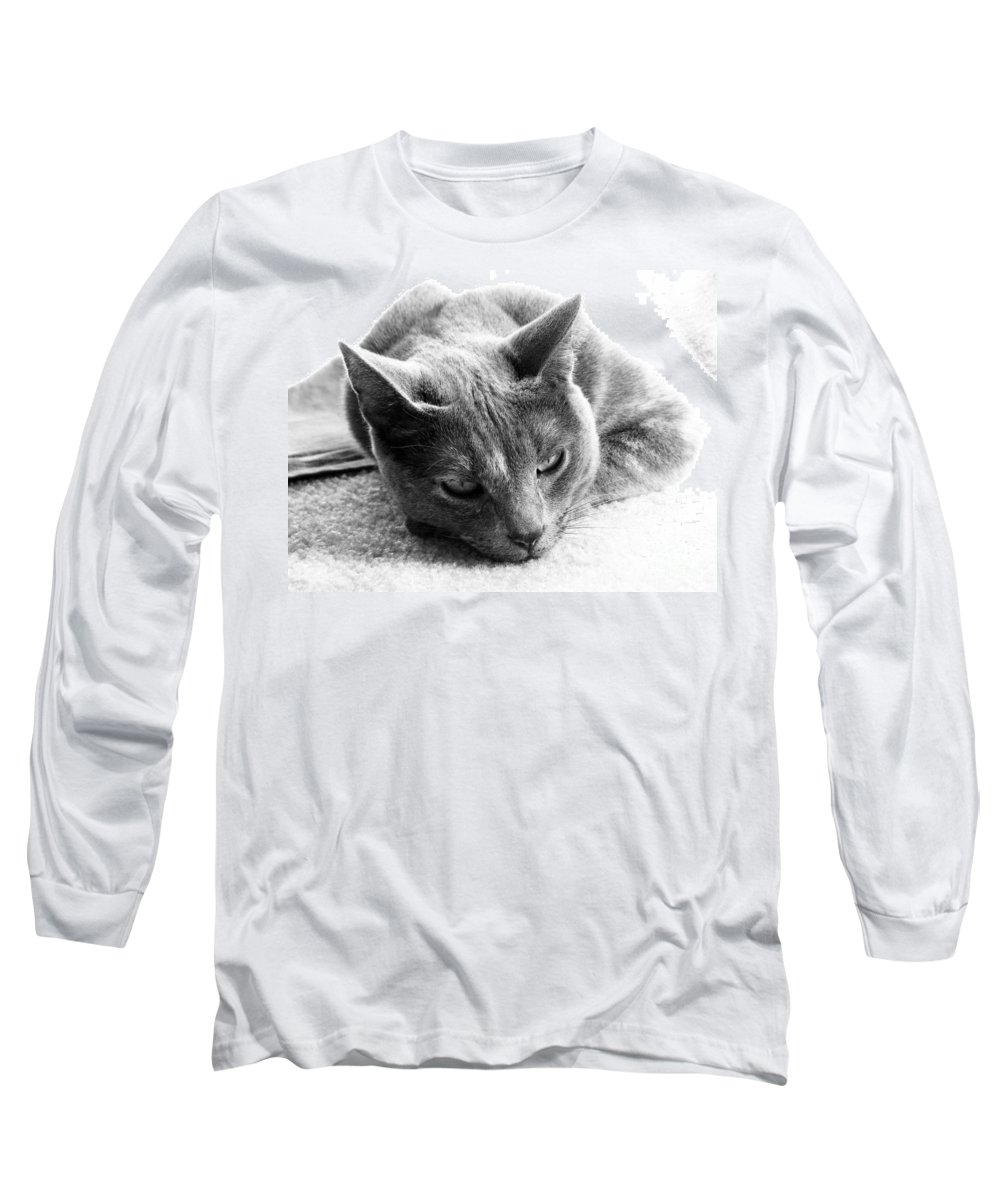 Cats Long Sleeve T-Shirt featuring the photograph Resting by Amanda Barcon