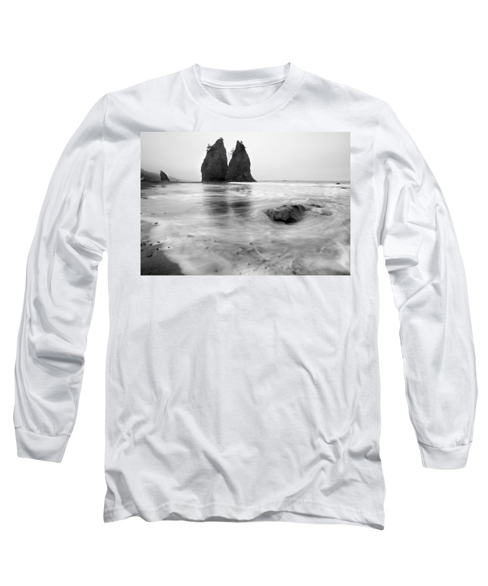 Beach Long Sleeve T-Shirt featuring the photograph Rialto Reflections by Mike Dawson