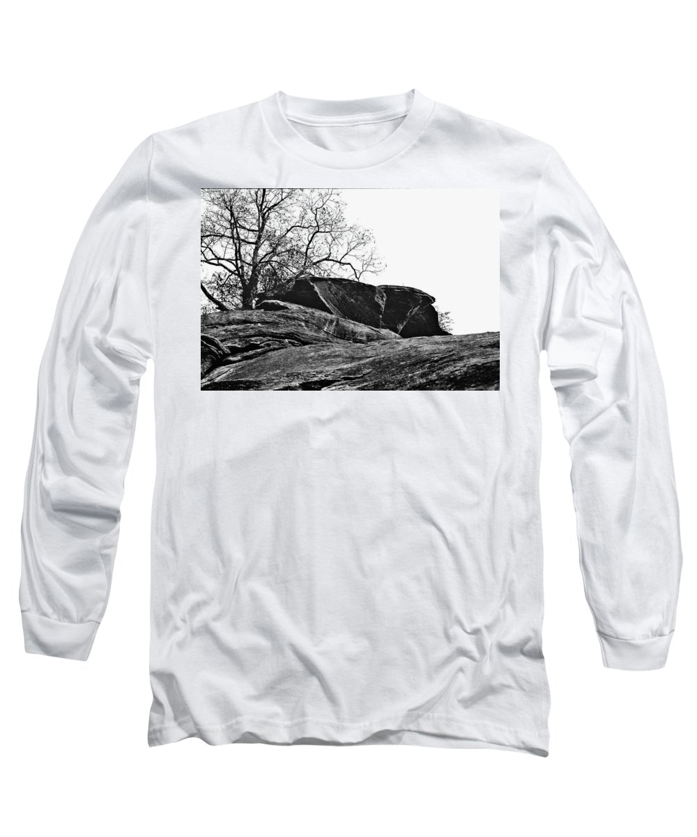 Landscape Long Sleeve T-Shirt featuring the photograph Rock Wave by Steve Karol