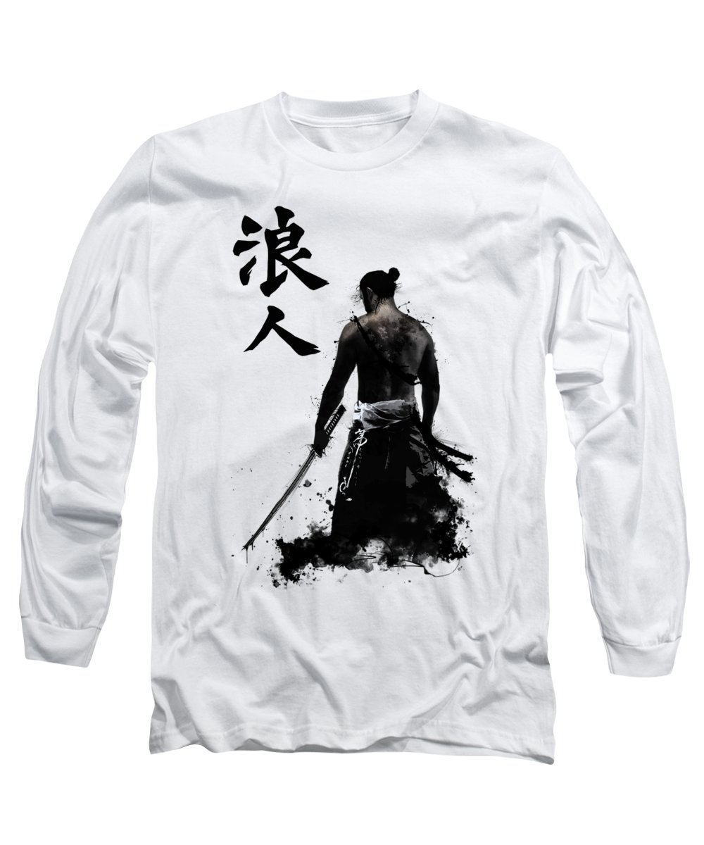 Japan Long Sleeve T-Shirt featuring the digital art Ronin by Nicklas Gustafsson
