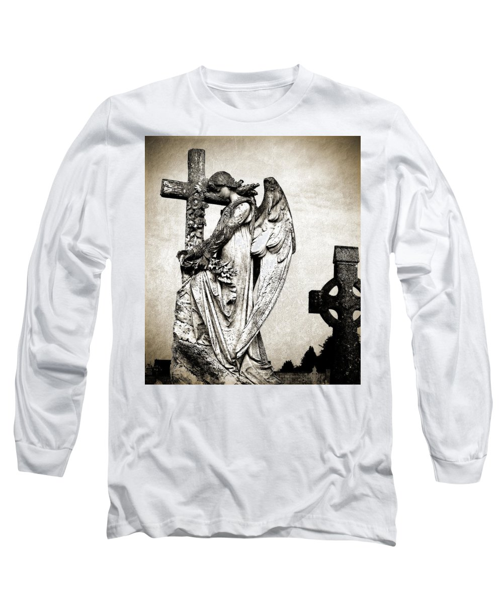 Ireland Long Sleeve T-Shirt featuring the photograph Roscommon Angel No 1 by Teresa Mucha