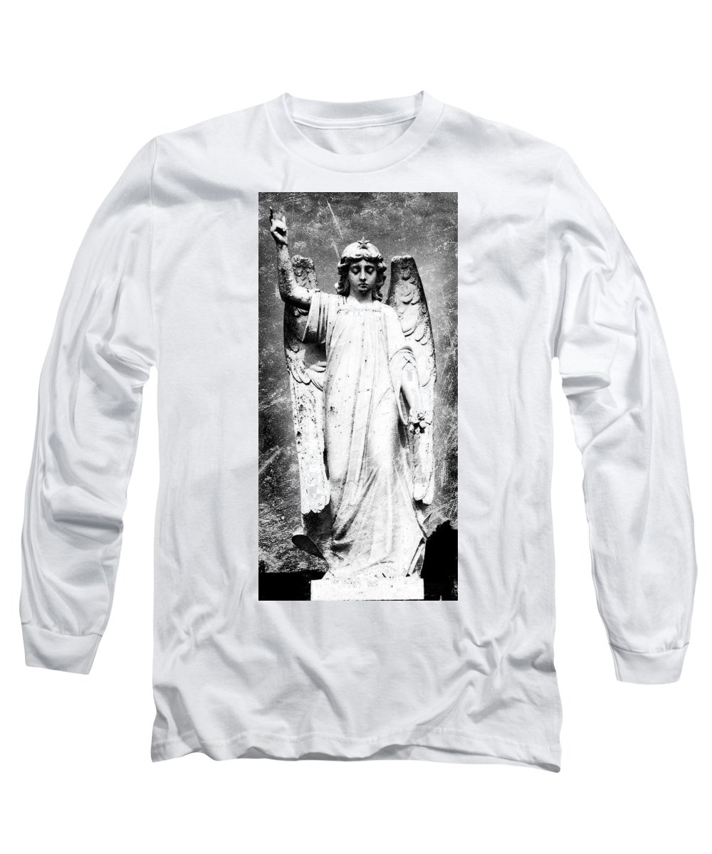 Roscommon Long Sleeve T-Shirt featuring the photograph Roscommon Angel No 2 by Teresa Mucha