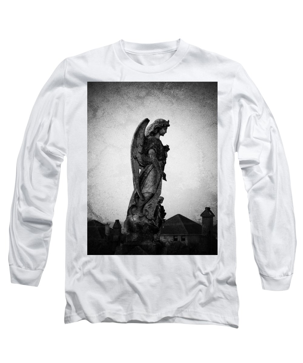 Roscommon Long Sleeve T-Shirt featuring the photograph Roscommonn Angel No 4 by Teresa Mucha