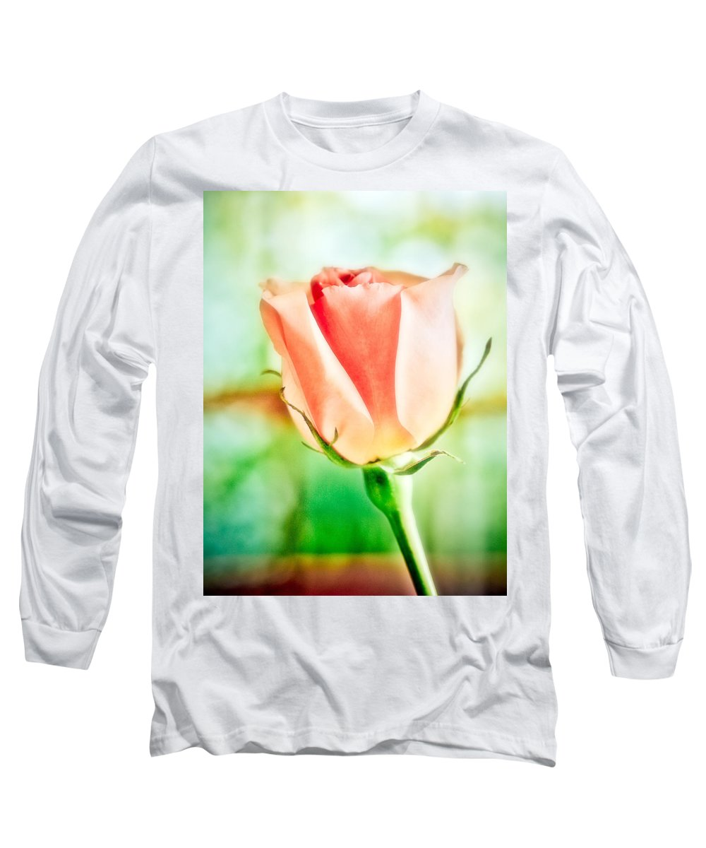Rose Long Sleeve T-Shirt featuring the photograph Rose In Window by Marilyn Hunt
