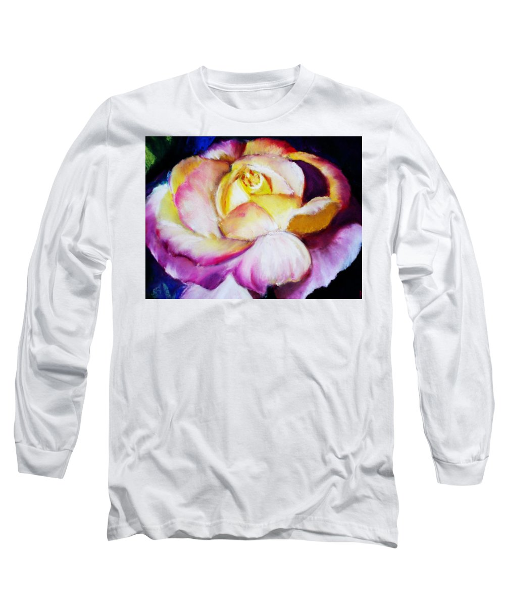 Rose Long Sleeve T-Shirt featuring the print Rose by Melinda Etzold