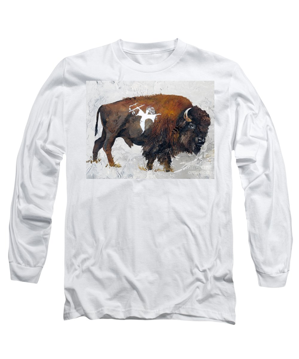 Southwest Art Long Sleeve T-Shirt featuring the painting Sacred Gift by J W Baker