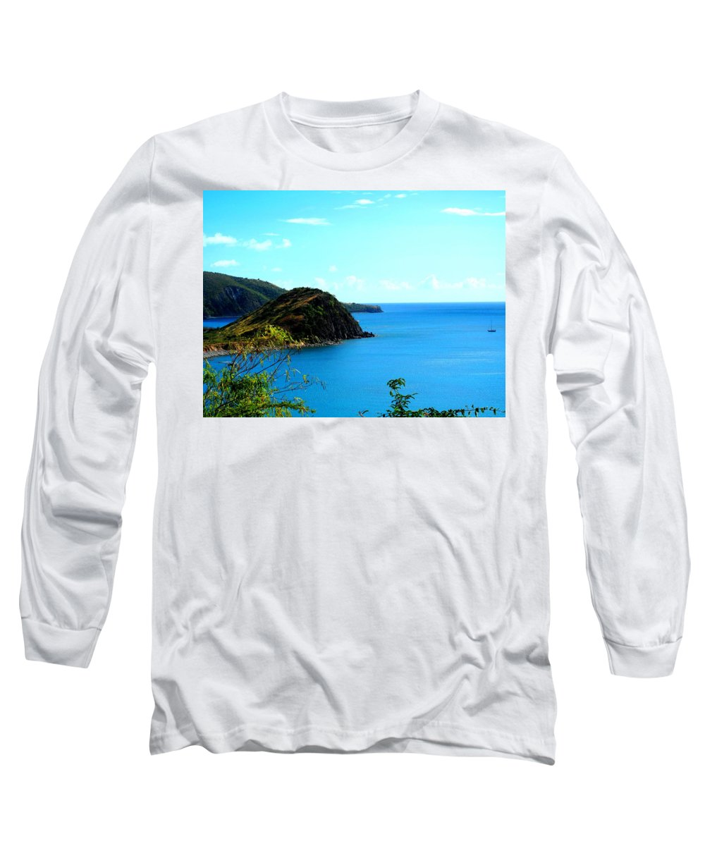 St Kitts Long Sleeve T-Shirt featuring the photograph Safe Harbor by Ian MacDonald