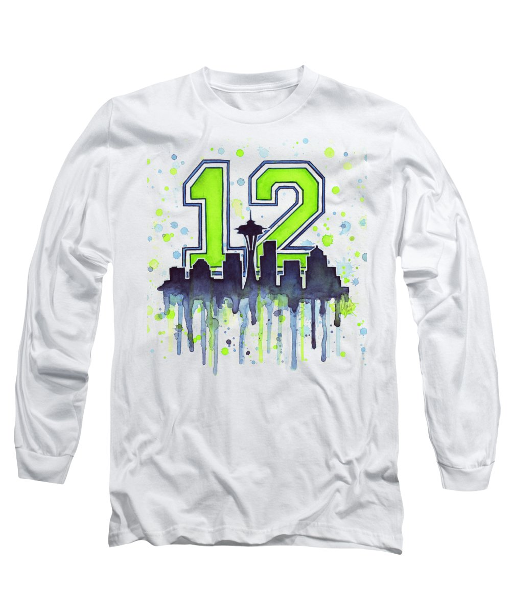 Seattle Skyline Long Sleeve T-Shirts