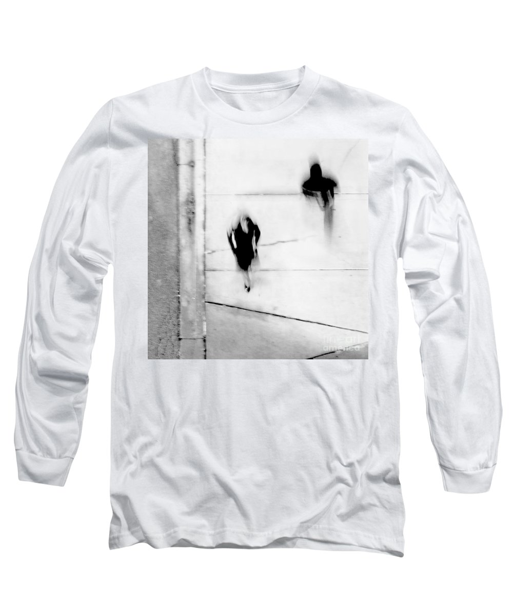 Black Long Sleeve T-Shirt featuring the photograph Self-protection - If You Look Me In The Eye Will You See Me by Dana DiPasquale
