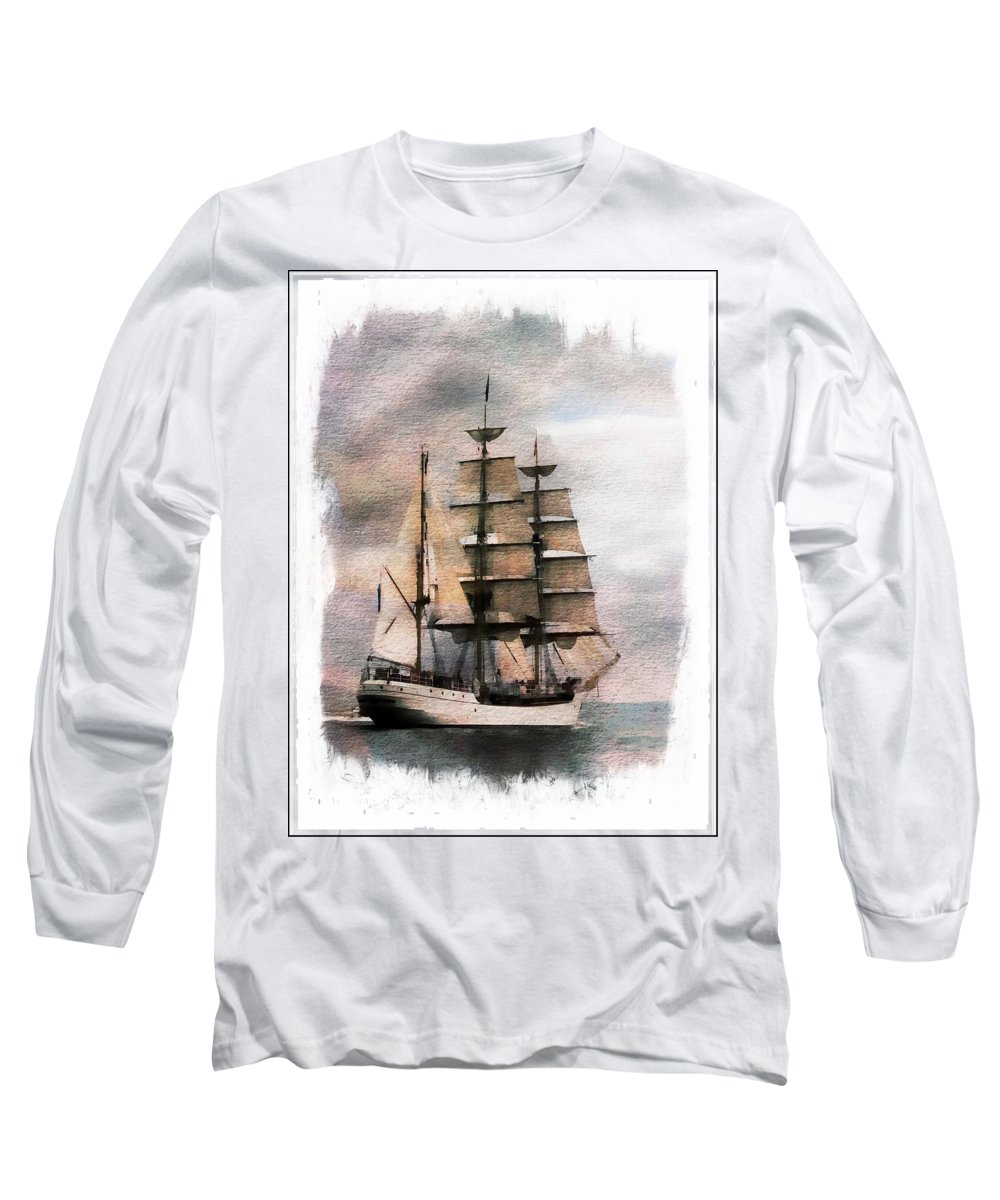 Sail Long Sleeve T-Shirt featuring the painting Set Sail by Aaron Berg