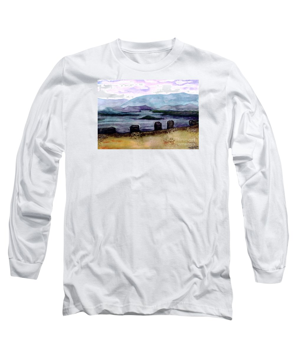 Original Painting Long Sleeve T-Shirt featuring the painting Silent Sentinels by Patricia Griffin Brett