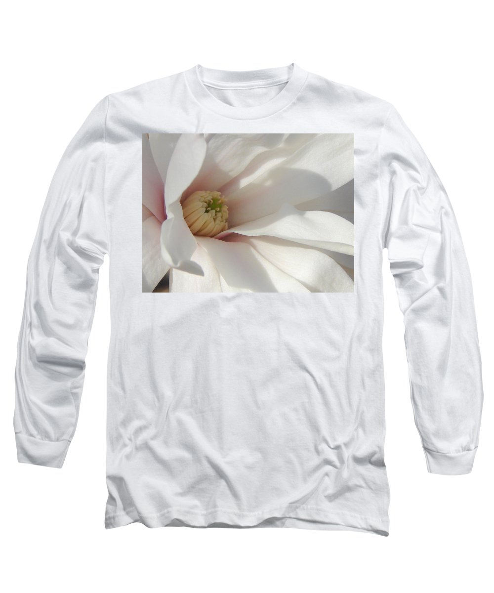 Long Sleeve T-Shirt featuring the photograph Simply White by Luciana Seymour
