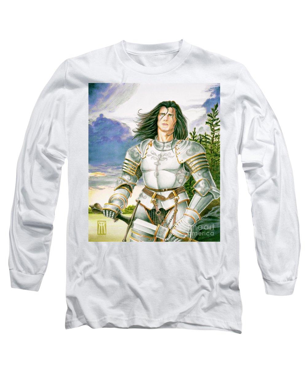 Swords Long Sleeve T-Shirt featuring the painting Sir Lancelot by Melissa A Benson