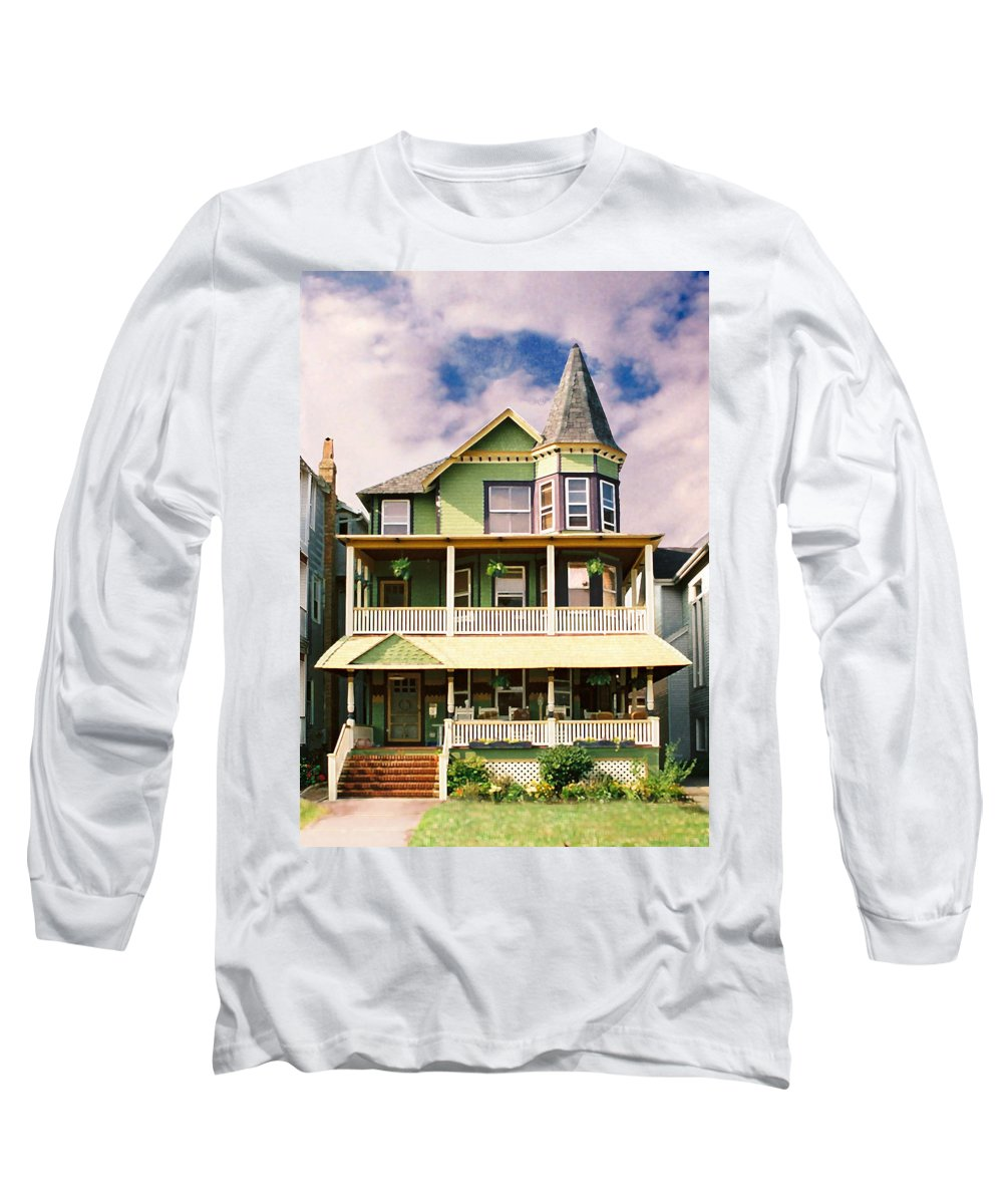 Archtiecture Long Sleeve T-Shirt featuring the photograph Sisters Panel 1 Of Triptych by Steve Karol