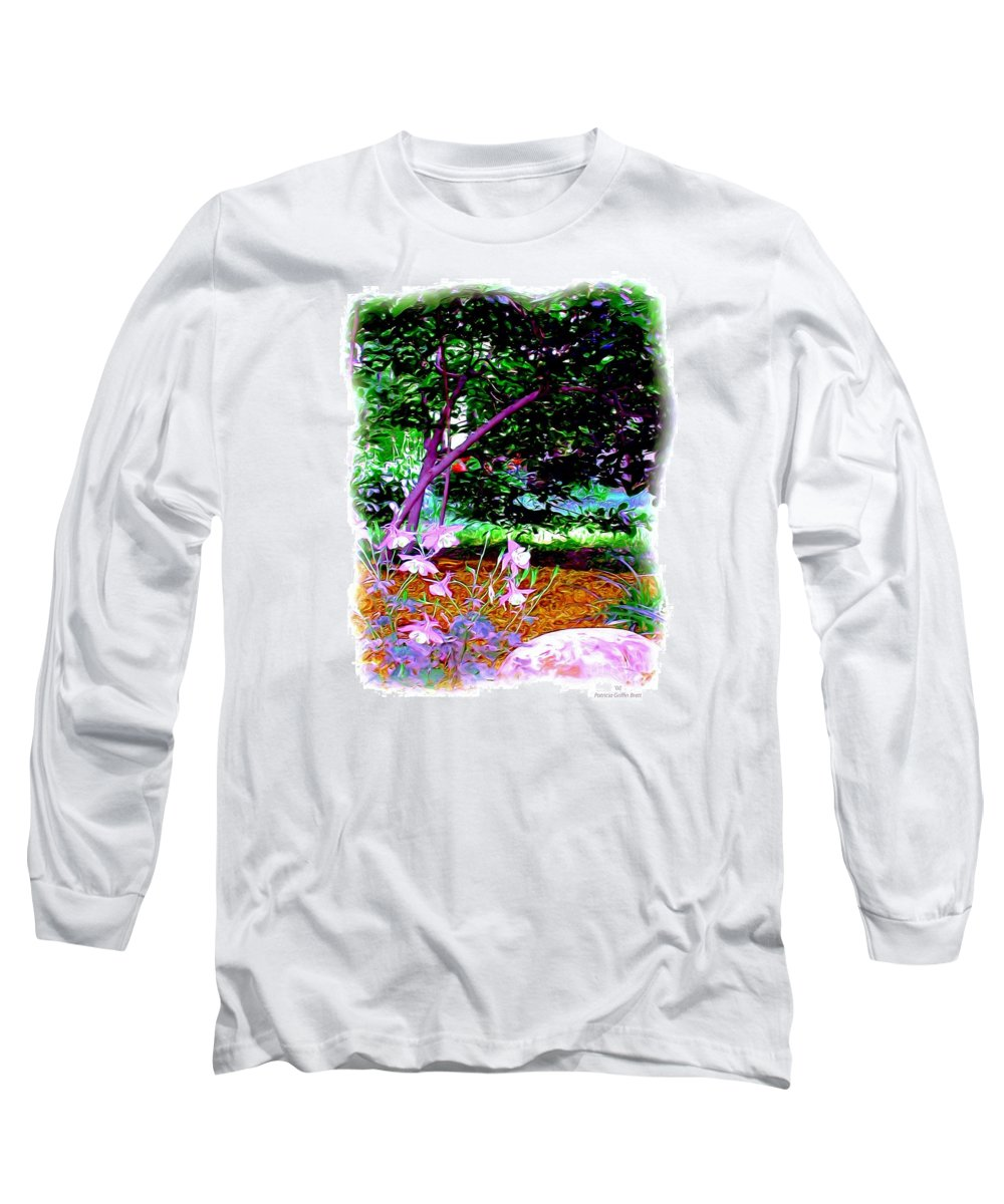 Fine Art Long Sleeve T-Shirt featuring the painting Sitting In The Shade by Patricia Griffin Brett